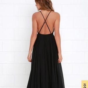 Lulu's Black Formal Maxi Dress